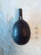 Grenade Allemande - Modèle Oeuf Lisse - Ww1 - INERTE. - Armes Neutralisées