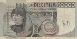 BANCONOTA  ITALIA 10000 LIRE -  VF (BN18 - [ 2] 1946-… : République