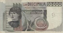BANCONOTA  ITALIA 10000 LIRE -  VF (BN20 - [ 2] 1946-… : Républic