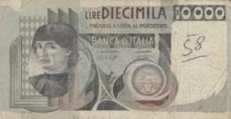 BANCONOTA  ITALIA 10000 LIRE -  VF (BN21 - [ 2] 1946-… : République