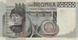 BANCONOTA  ITALIA 10000 LIRE -  VF (BN24 - [ 2] 1946-… : Républic