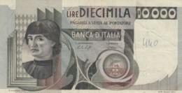 BANCONOTA  ITALIA 10000 LIRE -  VF (BN26 - [ 2] 1946-… : République