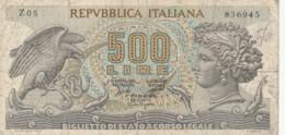 BIGLIETTO DI STATO  ITALIA 500 LIRE -  VF (BN31 - [ 2] 1946-… : Repubblica