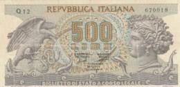 BIGLIETTO DI STATO  ITALIA 500 LIRE -  VF (BN32 - [ 2] 1946-… : Repubblica