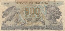 BIGLIETTO DI STATO  ITALIA 500 LIRE -  VF (BN37 - [ 2] 1946-… : Repubblica