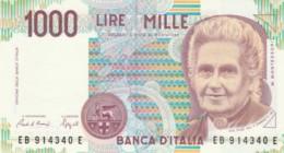 BANCONOTA  ITALIA 1000 LIRE MONTESSORI -  UNC (BN46 - [ 2] 1946-… : République