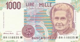 BANCONOTA  ITALIA 1000 LIRE MONTESSORI -  UNC (BN47 - [ 2] 1946-… : République