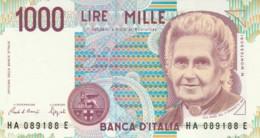 BANCONOTA  ITALIA 1000 LIRE MONTESSORI -  UNC (BN48 - [ 2] 1946-… : République