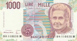 BANCONOTA  ITALIA 1000 LIRE MONTESSORI -  UNC (BN49 - [ 2] 1946-… : République