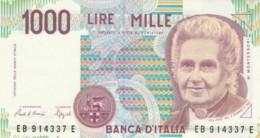 BANCONOTA  ITALIA 1000 LIRE MONTESSORI -  UNC (BN50 - [ 2] 1946-… : République