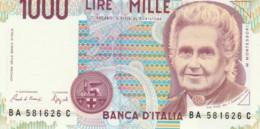 BANCONOTA  ITALIA 1000 LIRE MONTESSORI -  UNC (BN52 - [ 2] 1946-… : République