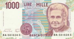 BANCONOTA  ITALIA 1000 LIRE MONTESSORI -  UNC (BN53 - [ 2] 1946-… : République