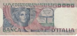 BANCONOTA  ITALIA 50000 LIRE -  VF (BN57 - [ 2] 1946-… : République