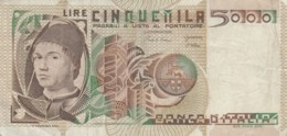 BANCONOTA  ITALIA 5000 LIRE - VF (BN61 - 5000 Lire
