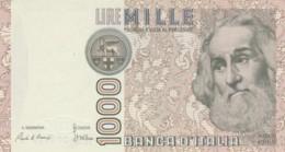 BANCONOTA  ITALIA 1000 LIRE MARCO POLO - UNC (BN74 - [ 2] 1946-… : République
