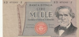 BANCONOTA  ITALIA 1000 LIRE VERDI - EF (BN78 - [ 2] 1946-… : Repubblica