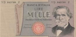 BANCONOTA  ITALIA 1000 LIRE VERDI - EF (BN79 - [ 2] 1946-… : Repubblica