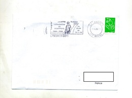 Lettre Flamme Langres Jeanne Mance  + Carrieres Village Seine Golf - Poststempel (Briefe)