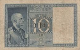 BIGLIETTO DI STATO  ITALIA 10 LIRE -  VF (BN81 - [ 1] …-1946 : Royaume