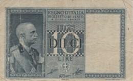 BIGLIETTO DI STATO  ITALIA 10 LIRE -  VF (BN82 - [ 1] …-1946 : Royaume