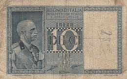 BIGLIETTO DI STATO  ITALIA 10 LIRE -  VF (BN84 - [ 1] …-1946 : Royaume