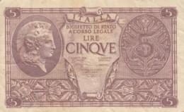 BIGLIETTO DI STATO  ITALIA 5 LIRE - VF (BN86 - Italia – 5 Lire