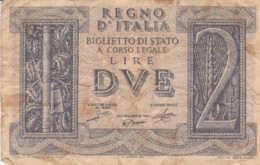 BIGLIETTO DI STATO  ITALIA 2 LIRE -  VF (BN90 - [ 1] …-1946 : Royaume