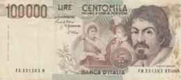 BANCONOTA  ITALIA 100000 LIRE CARAVAGGIO -  VF (BN97 - [ 2] 1946-… : Républic