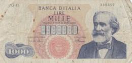 BANCONOTA  ITALIA 1000 LIRE VERDI - VF (BN98 - 1000 Lire