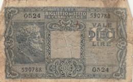 BIGLIETTO DI STATO  ITALIA 10 LIRE -  F (BN100 - Italia – 10 Lire