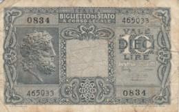 BIGLIETTO DI STATO  ITALIA 10 LIRE -  F (BN102 - Italia – 10 Lire