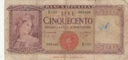 BANCONOTA - ITALIA 500 LIRE 1947 -  F (BN109 - Altri