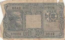 BIGLIETTO DI STATO  ITALIA 10 LIRE -  F (BN112 - Italia – 10 Lire