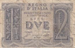 BIGLIETTO DI STATO  ITALIA 2 LIRE -  F (BN124 - [ 1] …-1946 : Regno