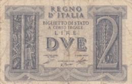 BIGLIETTO DI STATO  ITALIA 2 LIRE -  F (BN134 - [ 1] …-1946 : Regno