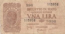 BIGLIETTO DI STATO  ITALIA 1 LIRA - F (BN148 - [ 1] …-1946: Königreich