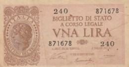 BIGLIETTO DI STATO  ITALIA 1 LIRA - F (BN163 - Italia – 1 Lira