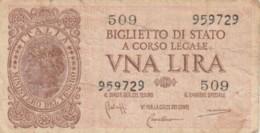 BIGLIETTO DI STATO  ITALIA 1 LIRA - F (BN165 - [ 1] …-1946: Königreich