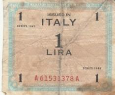 BIGLIETTO  ITALIA 1 LIRA - F (BN175 - Occupazione Alleata Seconda Guerra Mondiale