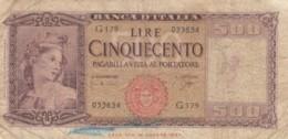 BANCONOTA - ITALIA 500 LIRE - 1947 - VF (BN182 - Altri
