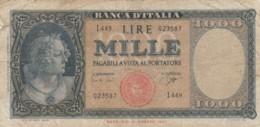 BANCONOTA - ITALIA 1000 LIRE -TESTINA-1947-  VF (BN190 - [ 2] 1946-… : République