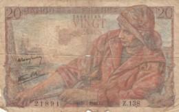 BANCONOTA - FRANCIA 20 FRANCHI 1945 F (BN214 - 1871-1952 Anciens Francs Circulés Au XXème