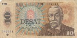 BANCONOTA - CECOSLOVACCHIA 10 KORUN 1986 VF (BN216 - Cecoslovacchia