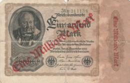BANCONOTA - GERMANIA 1 MILIARDO MARCHI F (BN233 - 1 Milliarde Mark