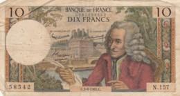 BANCONOTA - FRANCIA 10 FRANCHI 1965 VF (BN261 - 1962-1997 ''Francs''