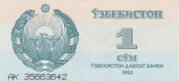 BANCONOTA - UZBEKISTAN 1-1992 UNC (BN280 - Uzbekistan