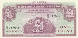BANCONOTA - REGNO UNITO 1 STERLINA-ARMED FORCES UNC (BN306 - Autorità Militare Britannica