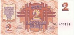 BANCONOTA - LETTONIA 2 RUBLI UNC (BN307 - Lettonia
