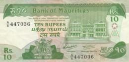 BANCONOTA - MAURITIUS 10 RUPIE VF (BN309 - Mauritius