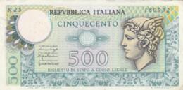 BIGLIETTO DI STATO - ITALIA  500 L. VF (BN380 - [ 2] 1946-… : Repubblica